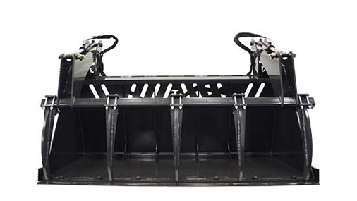 High Capacity Grapple Buckets Skid Steer Attachments